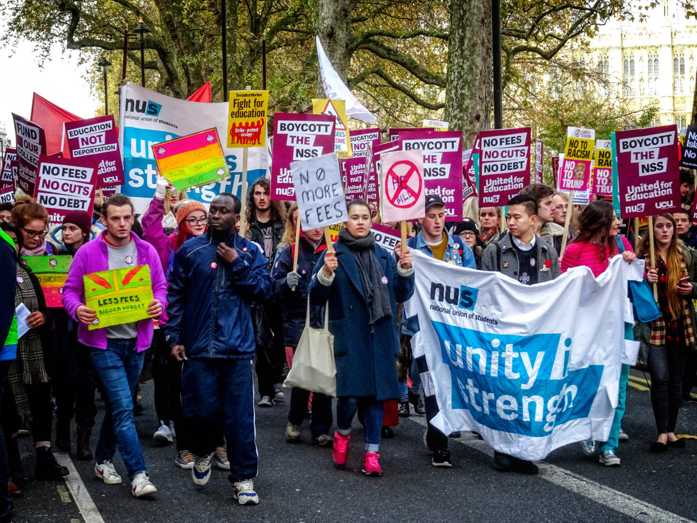 United for Education march