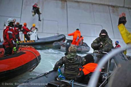The Greenpeace International ship Arctic Sunrise was attacked by the Russian Coast Guard.