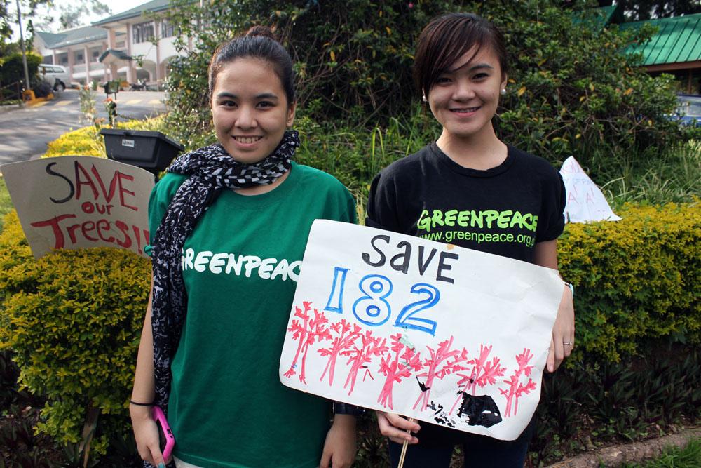 Greenpeace Baguio protestors