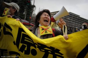 Fukushima anniversary protest in Japan