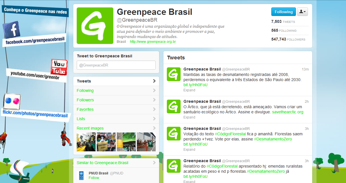 Greenpeace Brasil on Twitter