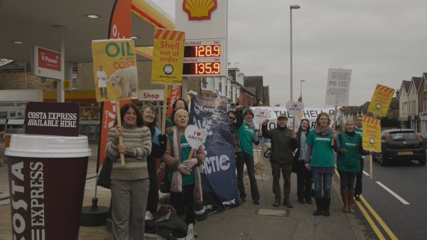#FreeTheArctic30 protest in Poole, Dorset
