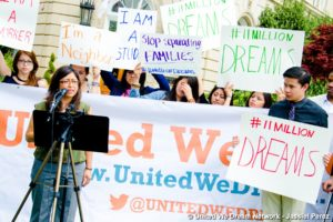 A United We Dream press conference in Washington, DC.