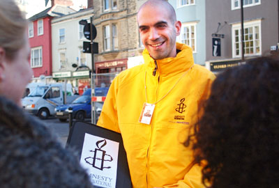 Amnesty International face to face fundraising