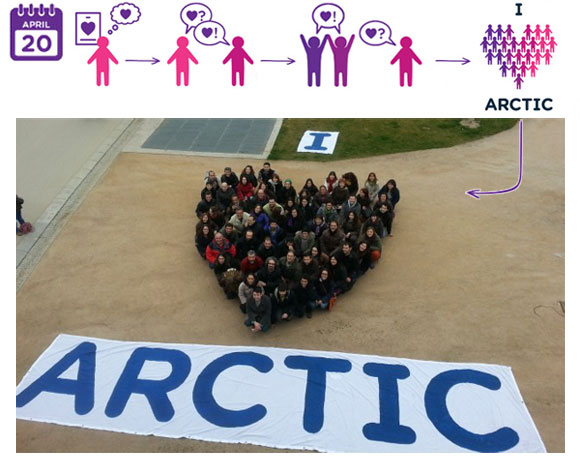 I heart the Arctic human banner