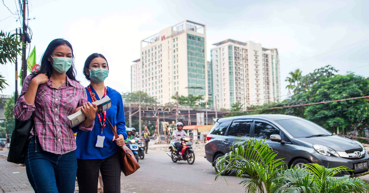 Smartphone apps in Indonesia giving people data about air quality for first time.