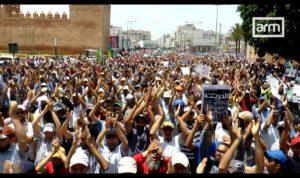 Hirak protesters in Rabat, Morocco.
