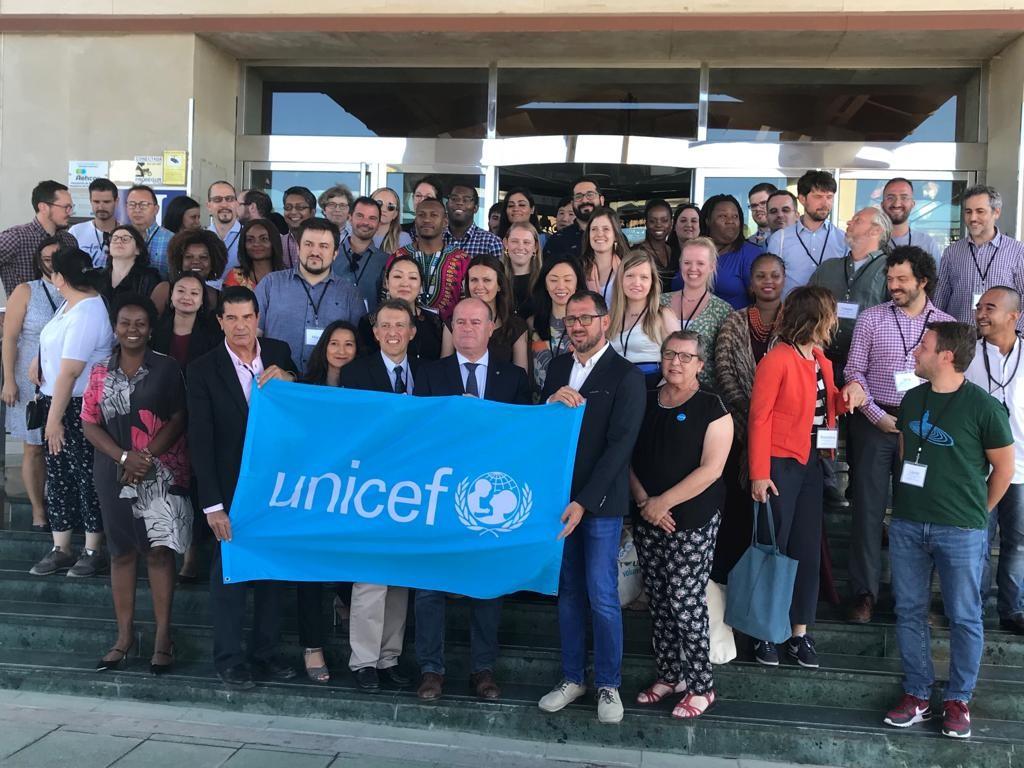Group Photo of UNICEF Volunteer Initiative Global Skillshare, Antequera, Spain, June 2019